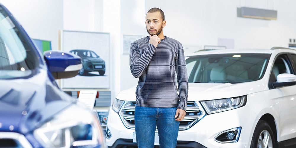 Man Buying a Used Car in Deep Thought